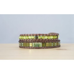bracelet femme pierre fine, vert, kaki