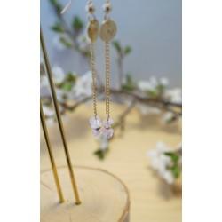 Les pendantes quartz rose...