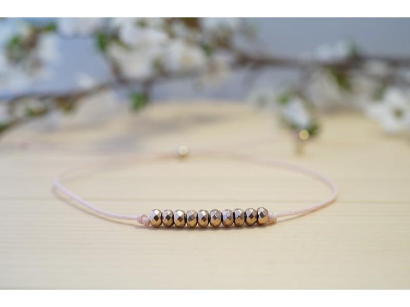 bracelets en hématite or rose
