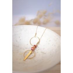 sautoir long plaqué or et coquillage du Pacifique , bijoux femme PELVA