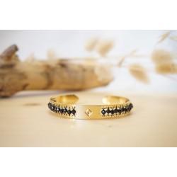 bracelet femme, spinelle, pierre naturelle, bijou, jonc, or