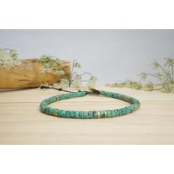 bracelet cheville, bijou pied, pierres naturelles, turquoise africaine, perle verte et turquoise et hématite