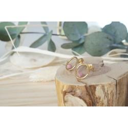 boucles d'oreille,  bijou femme, pierre naturelle, rhodonite, rose
