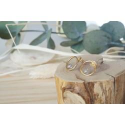 boucles d'oreille,  bijou femme, pierre naturelle, labradorite , gris