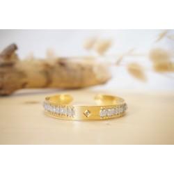 bracelet femme, labradorite, pierre naturelle, bijou, jonc, or
