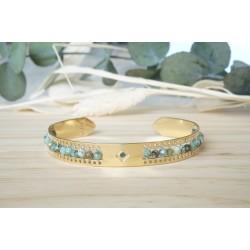 jonc femme, bijoux pierres naturelles, turquoise africaine