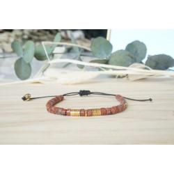 bijou femme, bracelet pierre naturelle, jaspe rouge d'afrique, hématite
